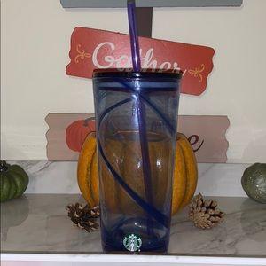 Starbucks blue glass tumbler